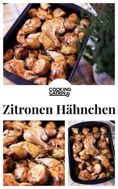 Rezept für Hühnchen aus dem Ofen mit Rosmarinkartoffeln.