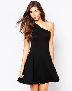 Image 1 ofASOS One Shoulder Skater Dress