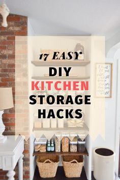Easy & Clever Kitchen Storage & Organization Hacks Ideas Cheap Diy Home Decor, Diy Kitchen Decor, Kitchen Hacks, Kitchen Ideas, Clever Kitchen Storage, Kitchen Organization, Storage Organization, Storage Ideas, Diy Ideas
