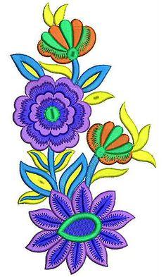 Floral & Leaf Embroidery Design