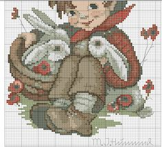 """""""Playmates"""" Hummel cross stitch - pattern 2B"""