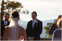 winter park wedding lodge at sunspot ceremony groom reaction