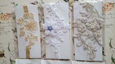 18 piece lace bridal garter handmade