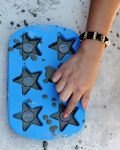 DIY Concrete Magnets | At Home In Love - but I think I would change it and try with salt dough rather than concrete..