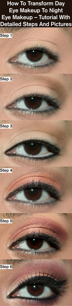 How To Transform Day Eye Makeup To Night Eye Makeup – Tutorial With Detailed Steps And Pictures