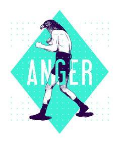 Anger Art Print  >>>LOVE LOVE this series