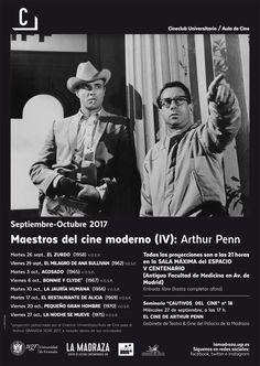 "Nota Maestros del cine moderno (IV): ""Arthur Penn"". #CineClubUGR #MaestrosCineModerno #LaMadrazaCCCUGR"