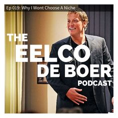 Join the Eelco de Boer podcast now at http://eel.co/itunes