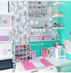 Craft Room Design Bedroom Home Office Great Ideas, Bedroom Craft Design Home Home .Craft room design bedroom home office great ideas, bedroom craft design home homeschoolingideasroom 35 best sewing and craft Craft Room Desk, Study Room Decor, Cute Room Decor, Craft Room Storage, Dorm Storage, Wall Storage, Budget Storage, Storage Ideas, Pegboard Craft Room