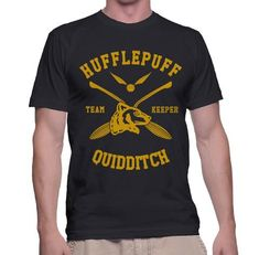 9dcc3a1aee38f Hufflepuff KEEPER Quidditch Team Men T-shirt PA new