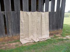 Pair Burlap Drapes Farmhouse Window Treatment Burlap by misshettie, $98.00
