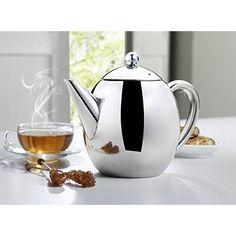 Rosenstein & Söhne Teekanne mit Sieb: Edelstahl-Teekanne mit Siebeinsatz, 1,75 Liter, spülmaschinenfest (Teekanne Edelstahl mit Sieb): Amazon.de: Küche & Haushalt