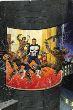 Cover for Marvel Preview Magazine #2 (2nd appearance of The Punisher and first telling of his origin). Art by Gray Marrow