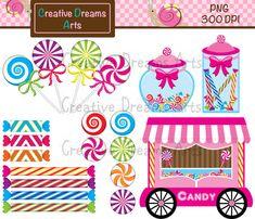 BUY 2 GET 1 FREE Candy Digital Clip Art Instant Download