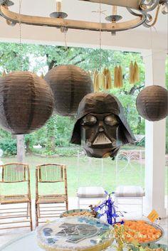 Star Wars Birthday Party Decor, Paper Lanterns, Darth Vader Piñata