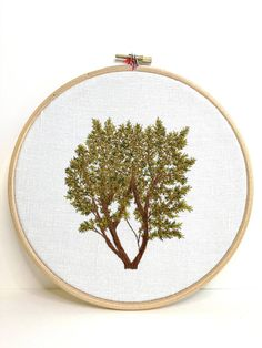 Embroidered Hazel embroidery Hoop hand embroidery
