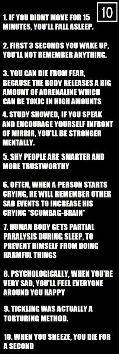 10 Awesome Psychological Facts You Should Know - Humor Buzzer
