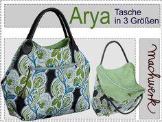 Nähanleitungen Taschen - eBook: Arya - Tasche mit diagonalem Reißverschluss - ein Designerstück von griselda bei DaWanda