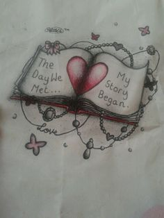 #book #scketchy #love #story #loveheart #tattoo #design