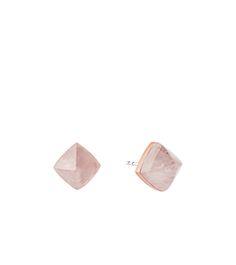 Rose Gold-Tone Pyramid Stud Earrings by Michael Kors
