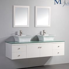 "Nepal 72"" Double Sink Bathroom Vanity Set with Mirror | Wayfair"