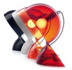 Dalu Lamp by Vico Magistretti for Artemide     An elegant and classic lamp for your table or desk. Its playful design and colors make for a very special 60's design classic!    http://lyt.sr/6lwtj