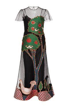 Short Sleeve Embellished Dress by Red Valentino | Moda Operandi