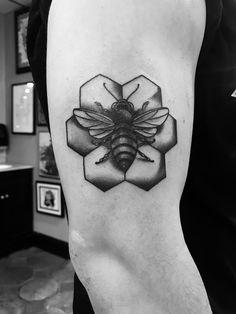 #BeehiveState #Utah #Bee #tattoo #B&W