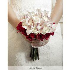 Ramo de novia, bridal bouquet, rojo y blanco, red and white, orquídeas y rosas, fotógrafos Murcia, wedding photographer