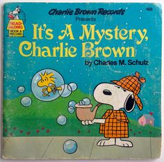It's A Mystery, Charlie Brown 7' Vinyl Record / Book, Charlie Brown Records - 409, Children's Story, 1980,  Original Pressing