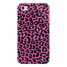 iPhone 7 Plus/7/6 Plus/6/5/5s/5c Case - Pink Purple Pop Leopard (400.370 IDR) ❤ liked on Polyvore featuring accessories, tech accessories and iphone case