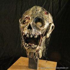 Stolloween's Severed Zombie Heads (Paper Mache) -
