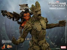 Marvel Rocket and Groot Sixth Scale Figure Set by Hot Toys   Sideshow Collectibles