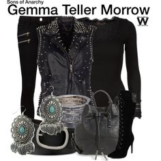 Inspired by Katey Sagal as Gemma Teller Morrow on Sons of Anarchy.