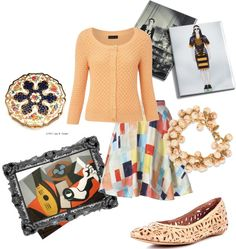 At the Museum, created by vaniwaardenhr on Polyvore