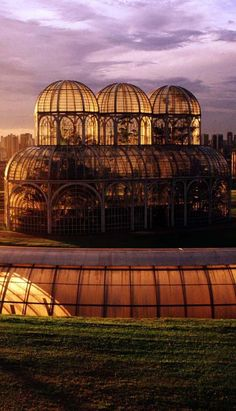 Greenhouse at the Botanical Garden of Curitiba, Brazil. Curitiba is the capital and largest city of the Brazilian state of Paraná. (V)