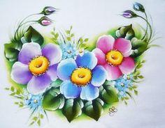 Pintura em Tecido Passo a Passo Com Fotos: Pintura em Tecido Flor do Campo - Detalhe
