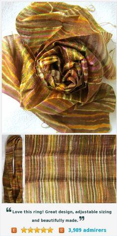 Silk scarf-Handwoven-Batik scarf-Handmade-Pure raw silk-Organic-Thai silk-Bridal Accessories-Gift for her-Silk accessories-Wedding gift https://www.etsy.com/listing/473894863/