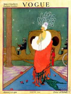 Vogue Cover January 1915 by Helen Dryden