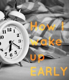 Check out these tips for getting up early! #morning #routine #lifestyle scientistatheart.com