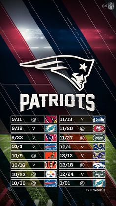 2016-2017 New England Patriots football schedule