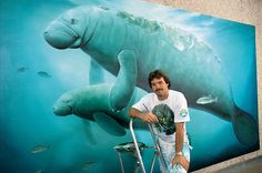 Whaling Walls: Marine life artist Wyland painted 100 life-sized whale murals on buildings all over the world, mostly in the United Stated.