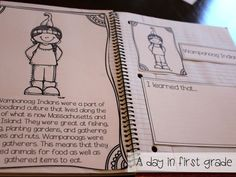 Social Studies interactive notebooks that help students with history, critical thinking, and responding to reading. This is a great tool to get their brains working! Teaching Social Studies, Teaching Science, Teaching Kids, Classroom Fun, Classroom Organization, Kindergarten Crafts, Preschool, Hello November, Teacher Boards