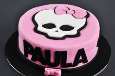 Monster High Fondant Cake Tarta de Fondant Monster High – Calavera