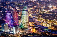 Flame Tower, Baku, Azerbaijan via Nat'l Geographic photography