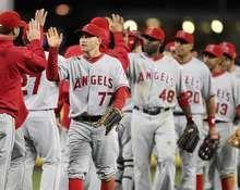 Team Celebration, Los Angeles Angels of Anaheim