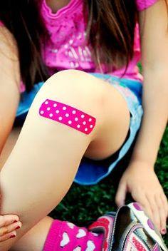 Fabric scrap bandaids!  Genius!