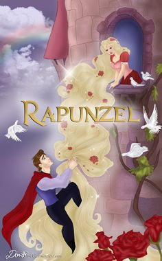 The Maiden in The Tower by DimitriKJr Rapunzel Story, Disney Rapunzel, Princess Rapunzel, Disney Princess, German Fairy Tales, Charlotte Rose, Let Your Hair Down, Cute Stories, Fairytale Art