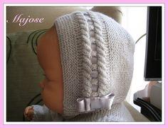Laetiquetadelana Tutoriales: Gorrito para bebe Baby Knitting Patterns, Knitting For Kids, Crochet For Kids, Baby Patterns, Kids Dress Clothes, Tricot Baby, Knitted Hats, Crochet Hats, Baby Barn