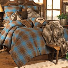 Blue Mountain Lake Bedding Collection  from Black Forest Decor